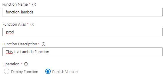 lambda publish